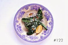 Delicious Tapas: Black cabbage with lemon, Parmesan & roasted garlic #122