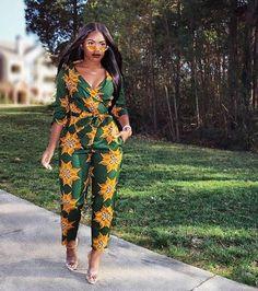 Beautiful African Print fashion jumpsuits for women Stylish Ankara fashion jumpsuits for spring and summer c B Fashion, African Print Fashion, Africa Fashion, African Fashion Dresses, Fashion Prints, Fashion Outfits, Fashion Design, Ankara Fashion, Ghana Fashion