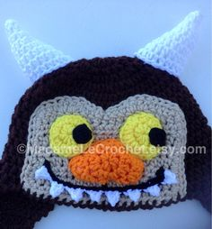 "Crochet Hat ""Where the Wild Things Are"" on Etsy, $24.99"