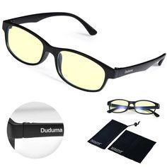 6849ce0e548 Duduma Computer Glasses Readers Reading Video Gaming Glasses of Anti Blue  Light Eye Strain and UV Light Coating with Superlight   Flexible Frame