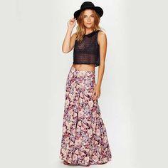 Floral Drapey Wideleg Pants $128