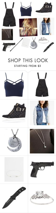 """""""Untitled #79"""" by lolz-boyd ❤ liked on Polyvore featuring Charlotte Russe, Boohoo, River Island, Levi's, Love Generation, Eyland, GUESS, Smith & Wesson and plus size clothing"""