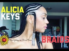 Alicia Keys Inspired Braids - YouTube