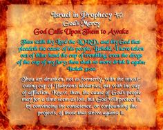 Israel in Prophecy - God's Mercy - God Calls Upon Them to Awake