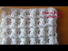 Punto double face noccioline e quadretti uncinetto tutorial - YouTube