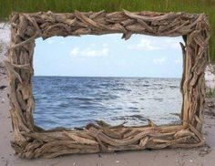 How to create your own driftwood mirror frame. Driftwood art is cheap, easy and fun to make.