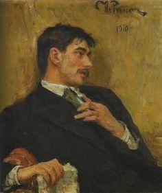 Portrait of poet Korney Ivanovich Chukovsky, 1910 // Ilya Repin