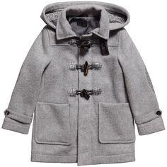 Boys Black Duffle Coat