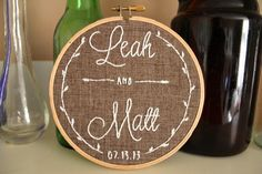 Custom Wedding Embroidery Hoop on Etsy, $25.00