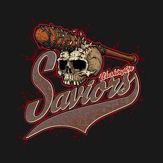 Washington Saviors T-Shirt by Tony Centeno  #washingtonsaviors #thewalkingdead #negan #lucille #baseball #team #tshirts #theteewarehouse #saviors