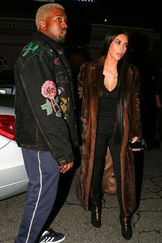 Kim Kardashian wearing Yeezy Season 4 Lace Up Suede Boot True Onyx