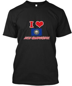 I Love New Hampshire Black T-Shirt Front - This is the perfect gift for someone who loves New Hampshire. Thank you for visiting my page (Related terms: I Heart New Hampshire,New Hampshire,New Hampshire,New Hampshire Travel,I Love My Country,New Hampshi #New Hampshire, #New Hampshireshirts...)