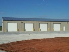 50x100x16 with 50x30 Gable Overhang - Post Frame Airport Facility www.nationalbarn.com