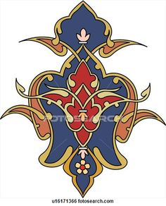 Clip Art of Blue and Red Arabesque Design u16171366 - Search Clipart, Illustration Posters, Drawings, and EPS Vector Graphics Images - u1617...