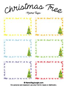 free printable christmas name tags the template can also be used