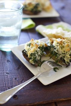 Spinach and Artichoke Stuffed Portabellos -  Fantastic meatless meal!  Came together quickly devoured just as fast.
