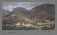 Nathan Fowkes, Land Sketch: Misty Day on the Parkfield Grade