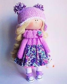 Купить Кукла Зимняя Сирень - подарок, подарок девушке, подарок на любой случай, подарок женщине