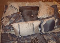 """NEW 9 PC GORGEOUS """"MOONLIGHT"""" QUEEN SIZE HOME EXPRESSIONS BED SET ORG. $280!! #HOMEEXPRESSIONSJCPENNYS #Modern"""