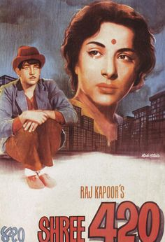 Shree 420, classic Bollywood movie poster #shree420 #rajkapoor  #bollywood