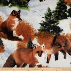 Fox Fleece - blanket for Elwood Fox Fabric, Fabric Animals, Fleece Fabric, Fox Print, Square Meter, Fleece Throw, Fashion Fabric, Foxes, Warm And Cozy