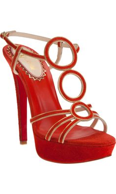 18be9fb1193d Christian Louboutin Troisronds - Mandarin Red Gold size discovered on  Fantasy Shopper