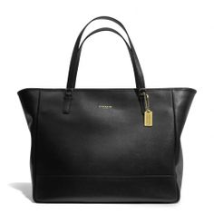 "***** The Large City Tote In Saffiano Leather from Coach. People RAVESaffiano leather  Inside zip, cell phone and multifunction pockets  Zip-top closure, fabric lining  Handles with 9 1/2"" drop  15"" (L) x 12 1/4"" (H) x 6 1/2"" (W) $358"