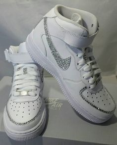 Swarovski Crystal Rhinestone Nike Air Force 1 Designed Shoes ... 9317fc800