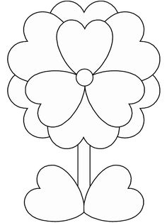 find this pin and more on printables print out valentines day flower coloring pages for kids - Printable Coloring Pages Kids