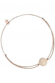 armband textil beige gold messing rose vergoldet ornamentale blume