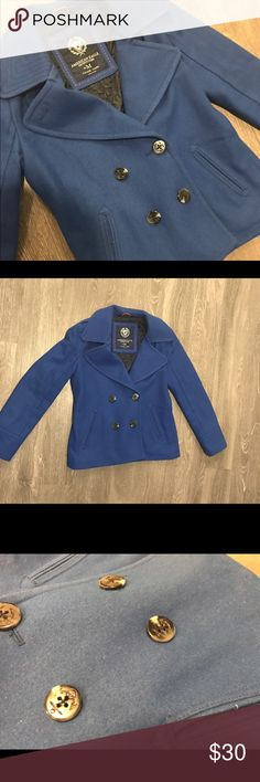Royal Blue Peacoat Excellent condition! Very warm! American Eagle Outfitters Jackets & Coats Pea Coats