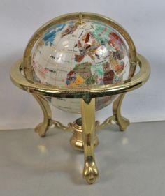 shopgoodwill.com: 15` Multi-Color Stone World Globe