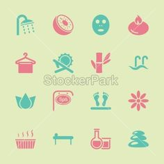 Spa Icons - Color Series | EPS10 | Vector | StockerPark