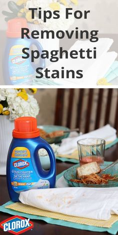 How to remove spaghetti sauce stains.