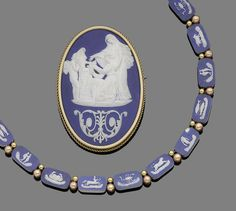 Necklace and Brooch Cameos By Wedgewood,   c.1800's   -   Bonham's