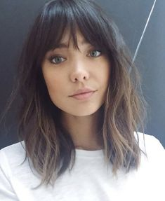 Medium length with fringe bangs. If you want a natural new medium hair cuts with