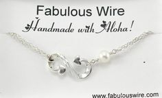 Heart Infinity Bracelet  Infinity with Heart by FabulousWire
