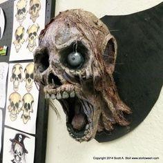 ZOMBIE TROPHY HEADS paper mache