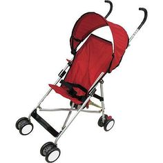 Product Description Babies'R'Us Lightweight Stroller in Red is the lightweight stroller for the parent on the go! This Babies'R'Us exclusive is designed with a retractable canopy to protect Baby rain or shine. Best of all the Babies'R'Us Umbrella Stroller is easy to...