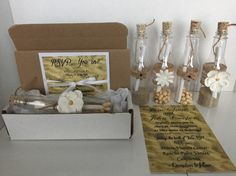 Beach Sand Message in a Bottle Invitation by KnSCreationStudio