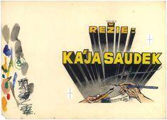 Kája Saudek - Muriel a andělé. 1969. Childrens Books, Book Art, Poetry, Typography, Comic Books, Illustration, Letterpress, Children Story Book, Letterpress Printing