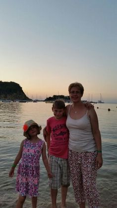 Ingrid, Thomas and Katie at San Miguel Beach Club in Ibiza August 2015