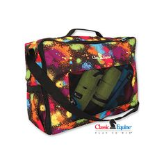 Classic Equine Splatter Paint Boot/Accessory Totes - So fun! Western Store, Western Wear, Polo Wraps, Dresser, Classic Equine, Barrel Racing Tack, Horse Boots, Western Horse Tack, Horse Accessories