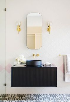 What does it take to totally transform a house in just 12 weeks? We get the inside scoop on the latest project by Three Birds Renovations. Reece Bathroom, White Bathroom, Modern Bathroom, Small Bathroom, Bathroom Ideas, Bathroom Vanities, Bad Inspiration, Bathroom Inspiration, Three Birds Renovations