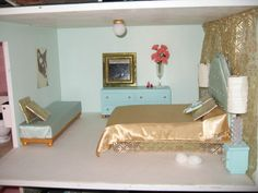 "Custom 1960's Mid-Century Modern Style 1:6 Scale Dollhouse from ""How Dreary to be Somebody"" Blog"