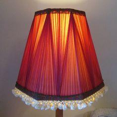 Raspberry Chiffon Vintage Lampshade www.thelampshadeloft.co.uk