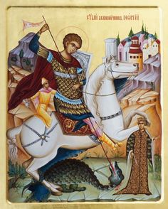 Сербская икона: монастырь Жича / Православие.Ru Saint George, Saints, Fair Grounds, Icons, Art, Craft Art, Kunst, Gcse Art, Icon Set