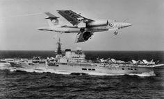 HMS Victorious and a Blackburn Buccaneer