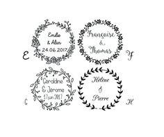 tampon mariage logo personnalis tampon mariage logo personnalisable tampon - Tampon Embossage Mariage