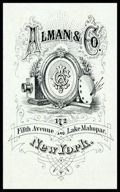 Vintage Trading Card - Alman & Co Photographer, New York